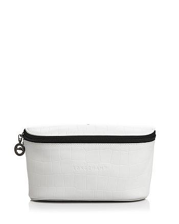 Longchamp - Crocodile-Embossed Leather Belt Bag