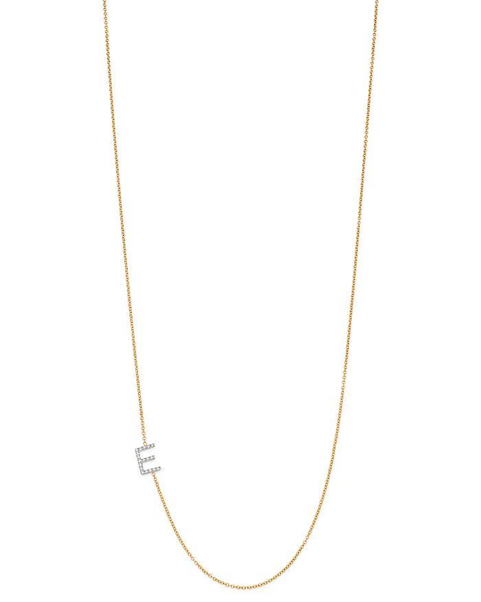 Zoe Lev 14k Yellow Gold Diamond Asymmetric Initial