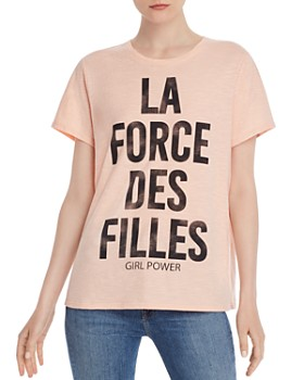 Cinq à Sept - Girl Power Crewneck Tee