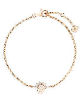 Nouvel Heritage - 18K Yellow Gold Mystic Diamond Small Luck Chain Bracelet