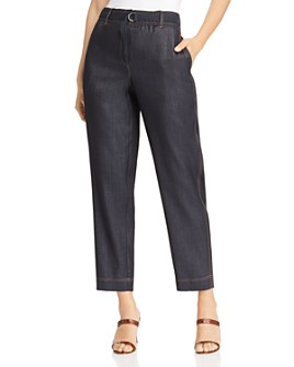 Lafayette 148 New York - Dekalb Cropped Contrast-Stitched Pants