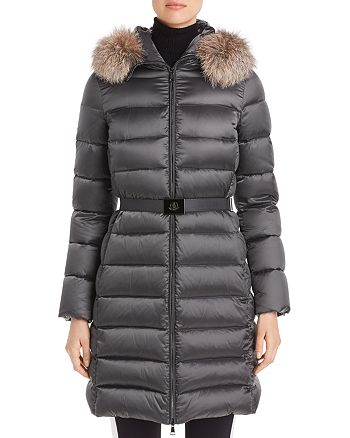 Moncler - Tinuv Giubotto Belted Fur-Trim Down Coat