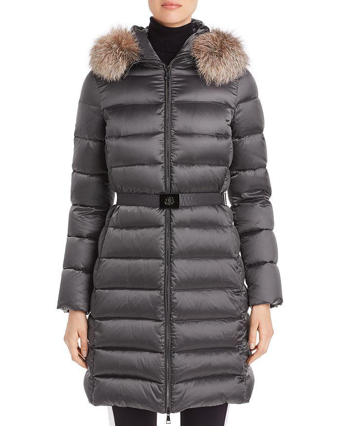 Moncler - Tinuv Giubotto Belted Fur-Trim Down Coat