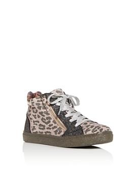 STEVE MADDEN - Girls' JSprinkle Glitter High-Top Sneakers - Little Kid, Big Kid