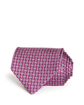 Salvatore Ferragamo - Gancini Printed Silk Classic Tie