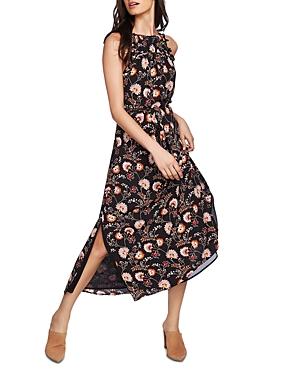 1.state High-Neck Tie-Waist Floral Dress