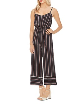 VINCE CAMUTO - Sleeveless Striped Jumpsuit