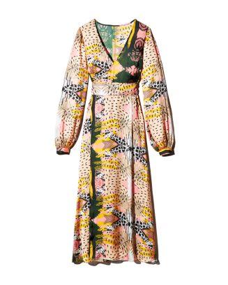 Print Wrap Dress   100 Percents Exclusive by Fe Noel