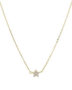 "AQUA - Mini Star Pendant Necklace in 18K Gold-Plated Sterling Silver, 16"" - 100% Exclusive"