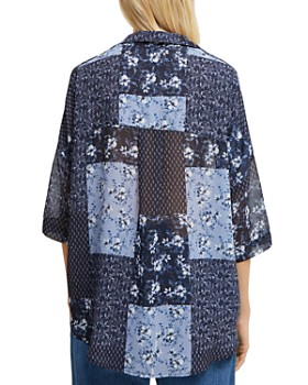 FRENCH CONNECTION - Floral Patchwork Button-Down Shirt