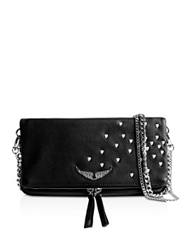 Zadig & Voltaire - Rock Heart-Studded Shoulder Bag