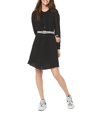Michael Michael Kors Georgette Button-Down Shirtdress