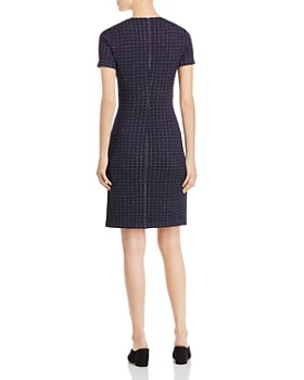St. John - Asymmetric Check-Pattern Dress