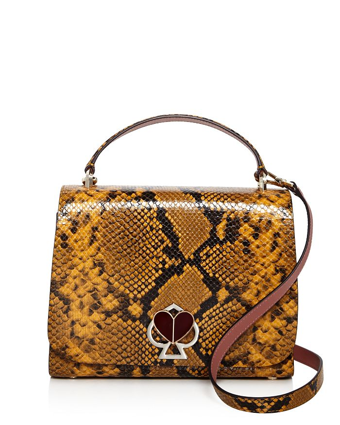 kate spade new york - Nicola Medium Snake-Embossed Satchel