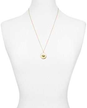 """Argento Vivo - Evil Eye Disc Pendant Necklace in 18K Gold-Plated Sterling Silver, 24"""""""