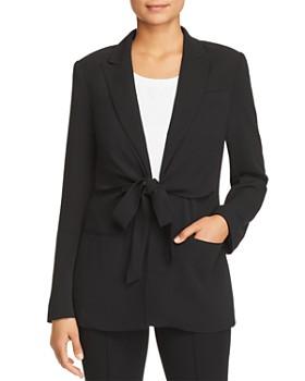Donna Karan - Tie-Front Jacket
