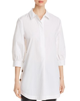 Marled - Button-Side Tunic Top