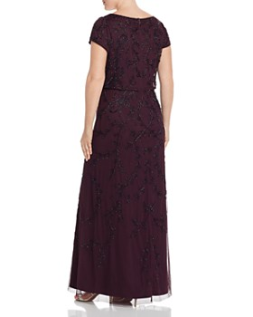 ce3ccee57f2fc1 ... Adrianna Papell Plus - Short-Sleeve Beaded Gown