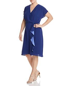 Adrianna Papell Plus - Faux-Wrap Dress