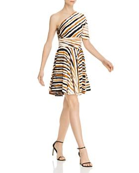 Ronny Kobo - Karida One-Shoulder Striped Dress