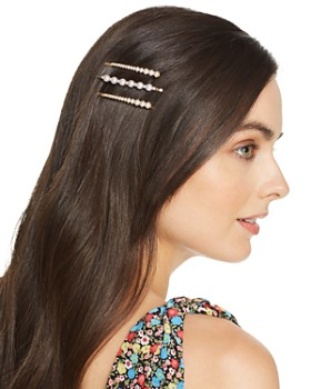 AQUA - Simulated Pearl-Encrusted Bobby Pins, Set of 3 - 100% Exclusive