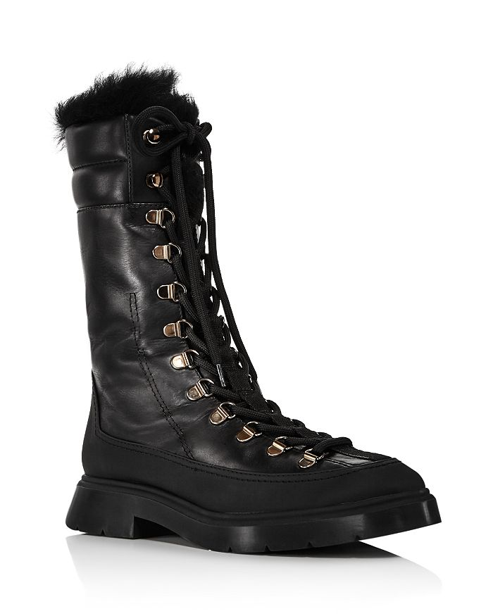Stuart Weitzman Women's Jessie Tall Hiker Boots In Black