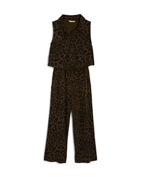 Habitual Kids - Girls' Scarlett Leopard-Print Jumpsuit - Big Kid