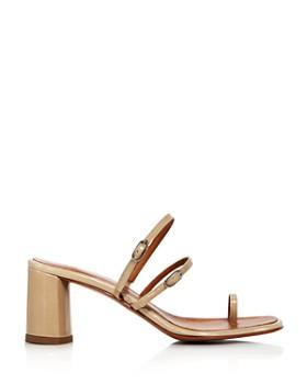 LoQ - Women's Alba Embossed Block Heel Sandals