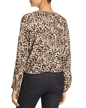 BeachLunchLounge - Sadie Leopard Tie-Front Top