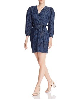 Rebecca Taylor - Faune Faux-Wrap Denim Dress