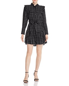 Rebecca Taylor - Plaid Ruffled Dress