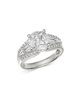 Bloomingdale's - Fancy-Cut Diamond Statement Ring in 18K White Gold, 1.85 ct. t.w. - 100% Exclusive