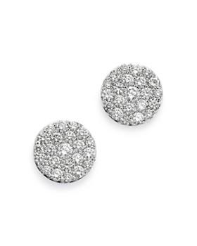 Bloomingdale's - Pavé Diamond Disc Stud Earrings in 18K White Gold, 2.0 ct. t.w. - 100% Exclusive