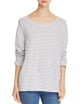 Eileen Fisher - Striped Organic Cotton Tee