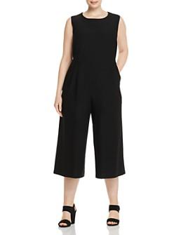 Eileen Fisher Plus - Cropped Wide-Leg Jumpsuit