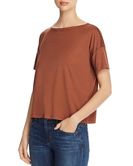 Eileen Fisher - Short-Sleeve Boxy Tee