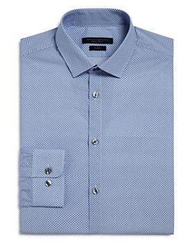 John Varvatos Star USA - Circle Print Slim Fit Dress Shirt