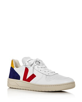 VEJA - Men's V-10 Leather Low-Top Sneakers