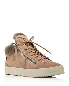 Giuseppe Zanotti - Women's Shearling-Lined Mid-Top Sneakers