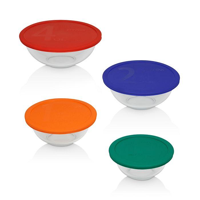 Pyrex - 8-Piece Smart Essentials Mixing Bowl Set