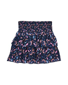 Chloé - Girls' Tiered Floral Print Skirt - Little Kid