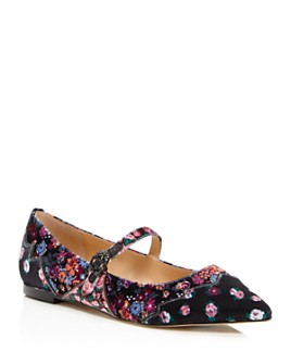 COACH - x Tabitha Simmons Women's Harriette Velvet Mary Jane Flats
