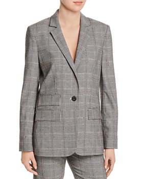 Joie - Aalyah Glen Plaid One-Button Blazer