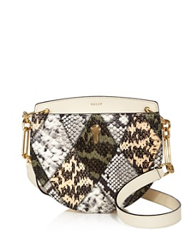 Bally - Leather Snake-Print Crossbody