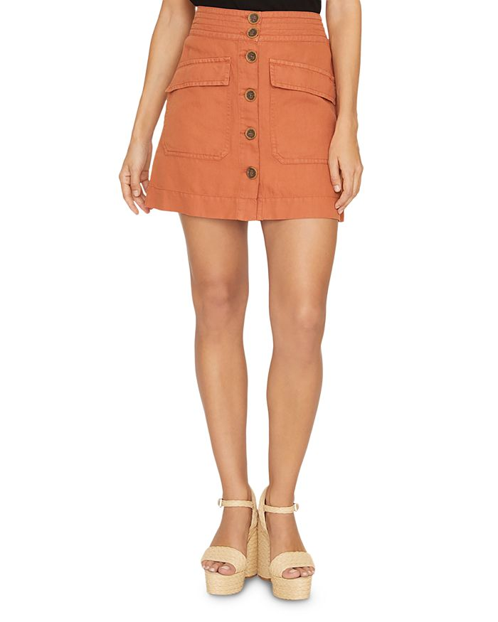 Sanctuary - Desert Button-Front Mini Skirt