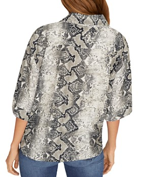 Sanctuary - Modern Life Tie-Front Snakeskin Blouse