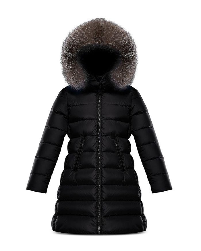 Moncler - Girls' Abelle Fur-Trim Down Puffer Coat - Big Kid