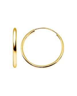 AQUA - Medium Hoop Earrings in 18K Gold-Plated Sterling Silver or Sterling Silver - 100% Exclusive