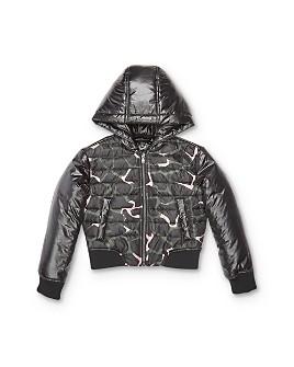 Armani - Girls' Giraffe-Print Zip-Up Jacket - Little Kid, Big Kid
