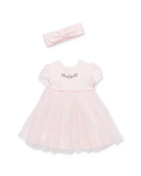 Little Me - Girls' Rose Dress, Headband & Bloomers Set - Baby